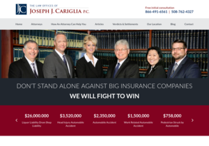 The Law Offices of Joseph J. Cariglia PC website thumbnail