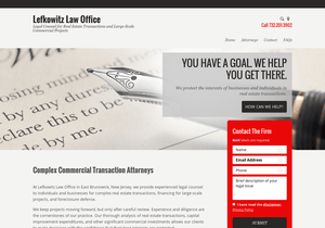 Lefkowitz Law Office website thumbnail