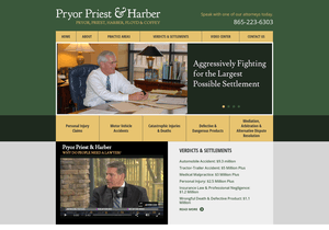Pryor, Flynn, Priest & Harber website thumbnail