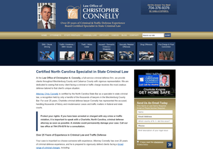 Law Office of Christopher A. Connelly website thumbnail
