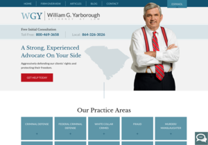 William G. Yarborough Attorney at Law website thumbnail