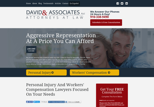 David & Associates website thumbnail
