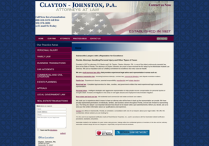 Clayton - Johnston PA website thumbnail