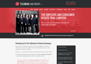 Feldman Law Group website thumbnail