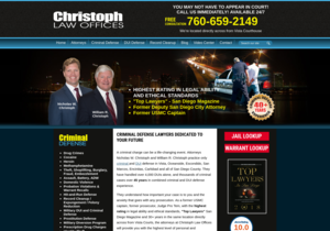 Christoph Law Offices website thumbnail