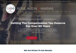 Rose, Klein & Marias LLP website thumbnail