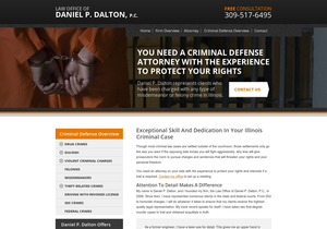 Law Office of Daniel P. Dalton, P.C. website thumbnail